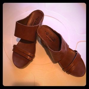 Women's new gorgeous brown wedges